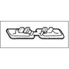 Крайна капачка за изолирани захр. шини с възм. за рязане